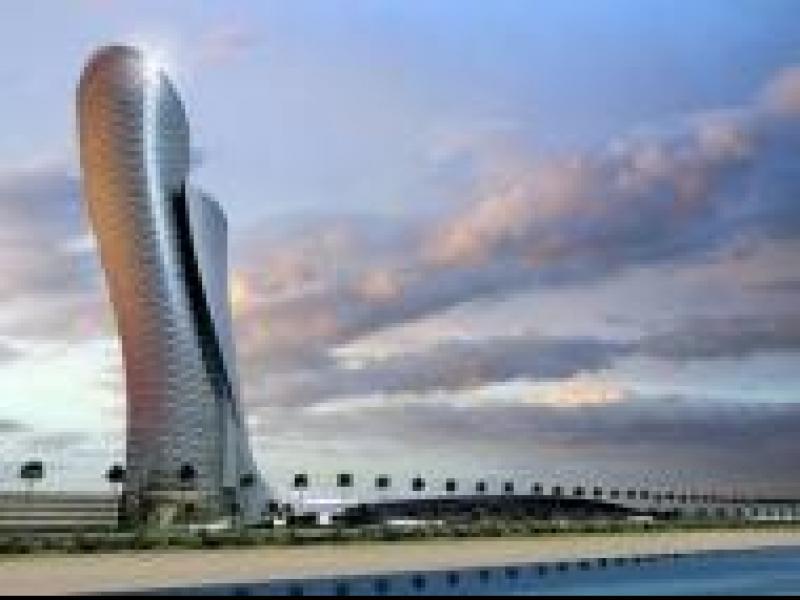 Czy wiesz, że najbardziej pochyłym budynkiem na świecie jest Capital Gate w Abu Dhabi?