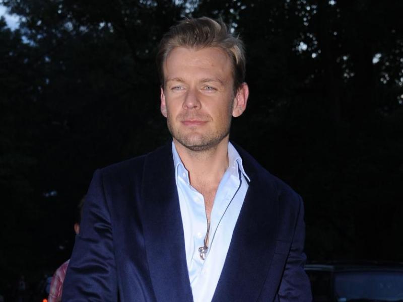 Dawid Woliński w szlafroku