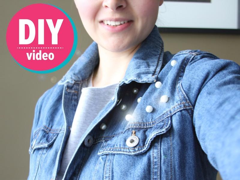 DIY z Ulą: jak urozmaicić starą dżinsową kurtkę