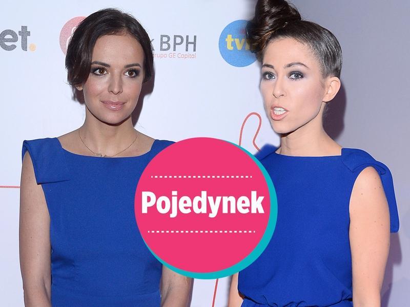 Dwie gwiazdy w kobaltowych sukienkach maksi. Która lepiej? [sonda]