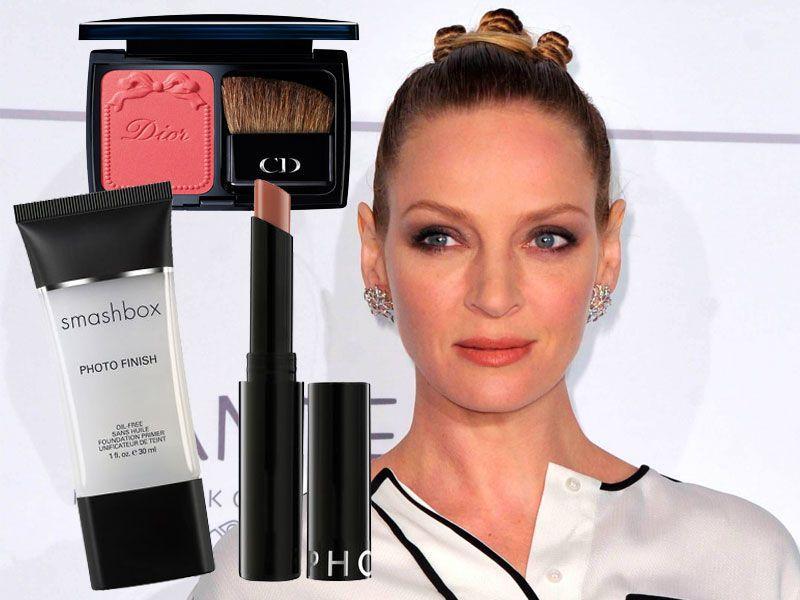 Elegancki makijaż Umy Thurman