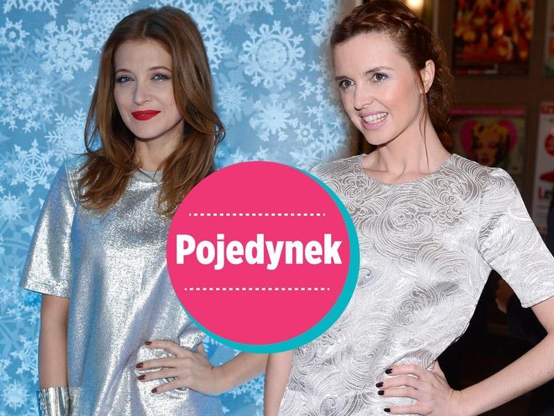 Fijał i Burzyńska w srebrnych t-shirtach. Która lepiej? [sonda]