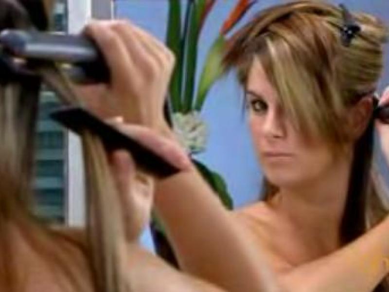 Fryzura z prostych włosów (video)