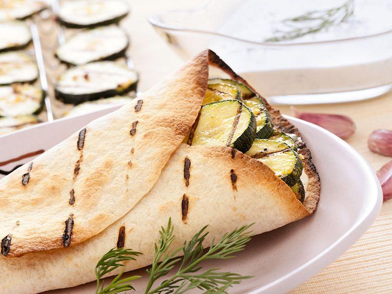 Grillowana tortilla wegetariańska