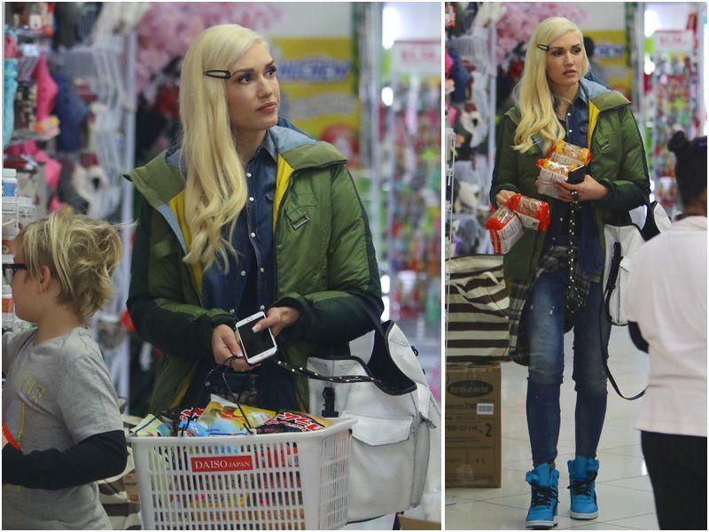 Gwen Stefani na zakupach, paparazzi gwen stefani, Gwen Stefani na zakupach