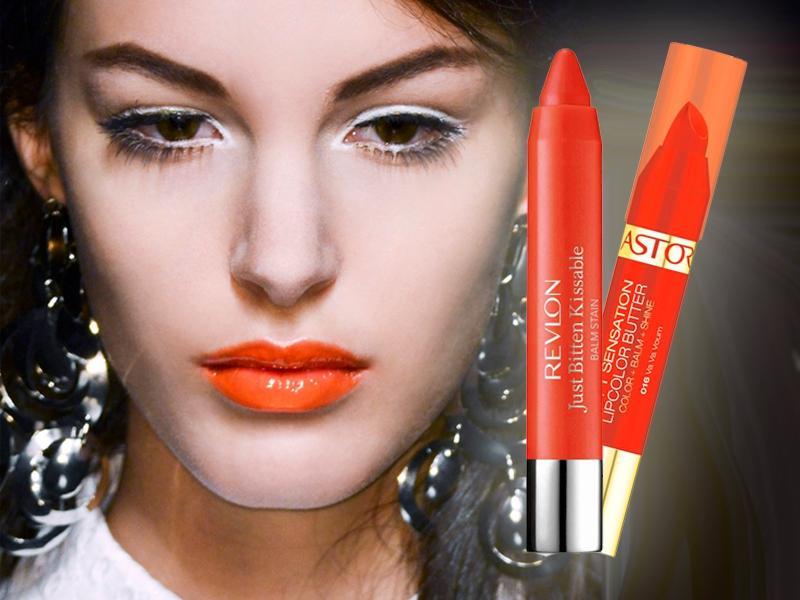 Hit lata - usta pomalowane na pomarańczowo