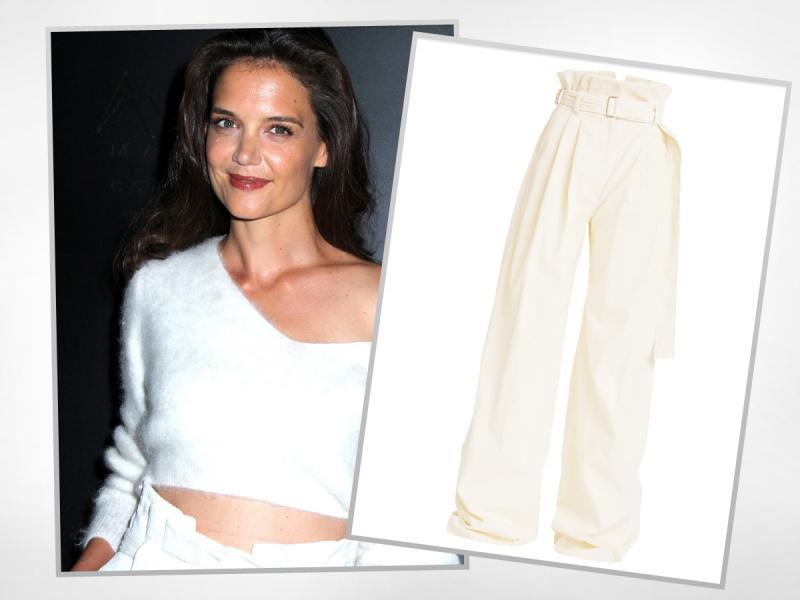 Jak spodnie z sieciówki stylizuje 37-letnia Katie Holmes?