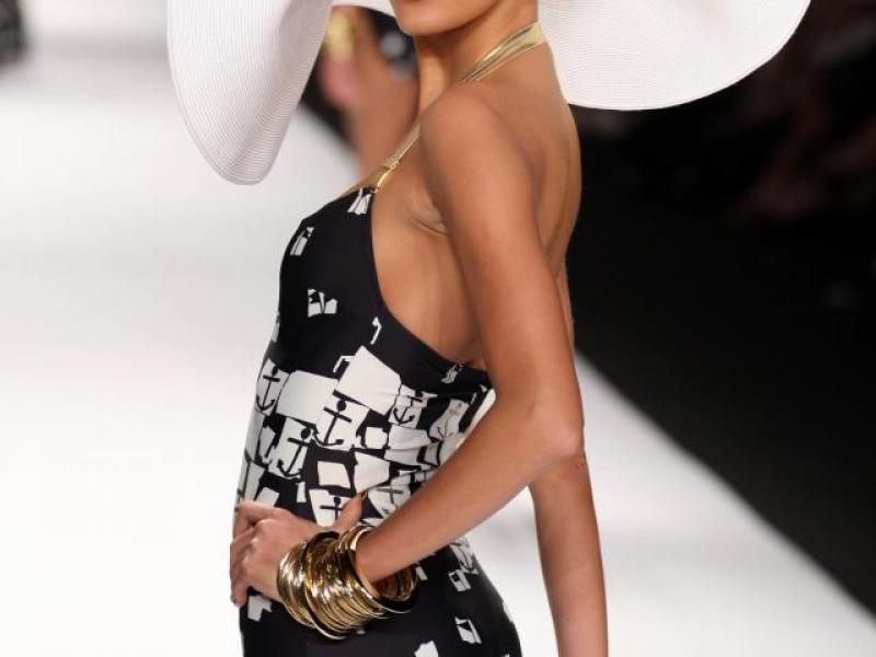 kostium kąpielowy, kobieta, modelka