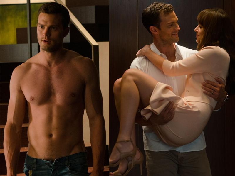 """Jamie Dornan miał problem z rozbieranymi scenami w """"Nowym obliczu Greya"""". """"Dakota mnie nauczyła, jak to robić"""""""