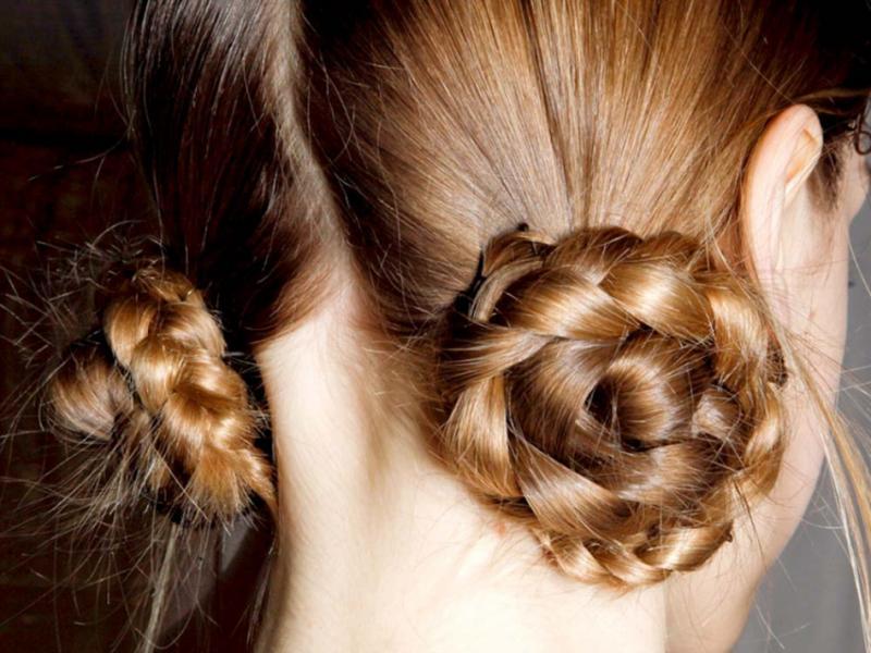 Причёски косички рогалики