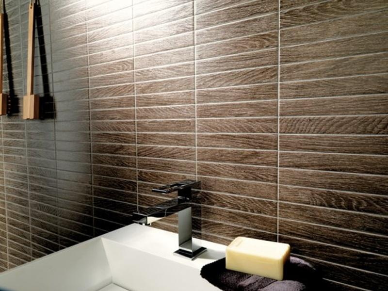 Badezimmer Fliesen Creme Holzoptik