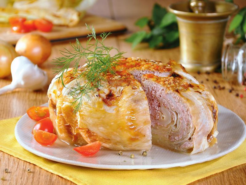 Kapusta włoska z mięsem