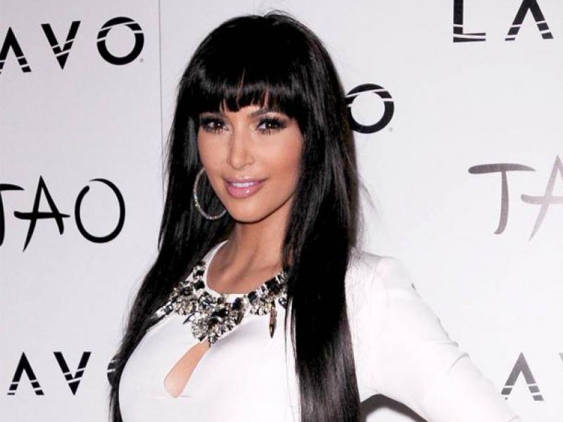 Kim Kardashian - z grzywką czy bez