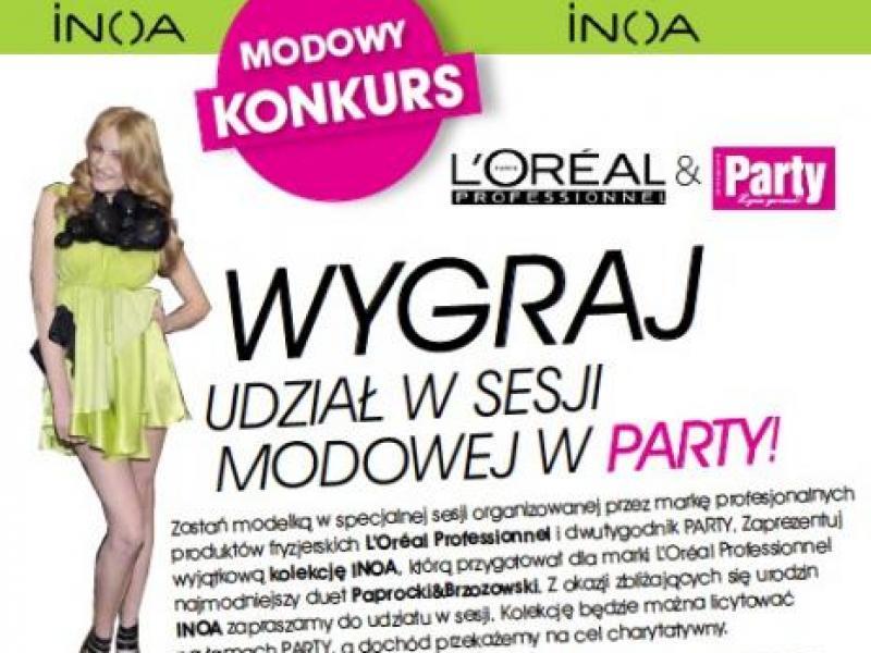 Konkurs modowy L'Oreal i Party