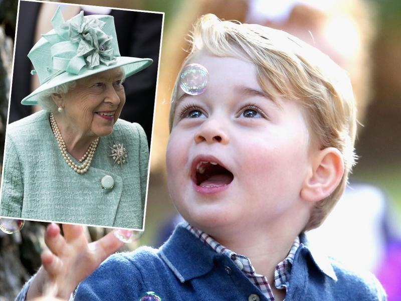 Książę George zwraca się do królowej Elżbiety II w taki sposób, że aż trudno się nie uśmiechnąć