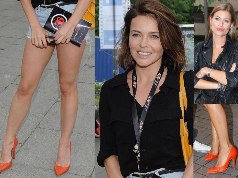 Kto lepiej dobrał pomarańczowe buty