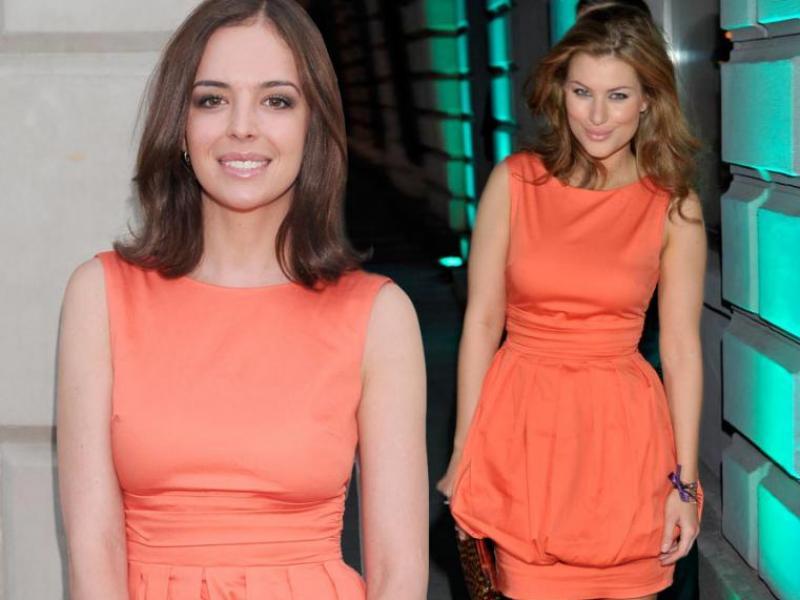 Kto lepiej w pomarańczowej sukience