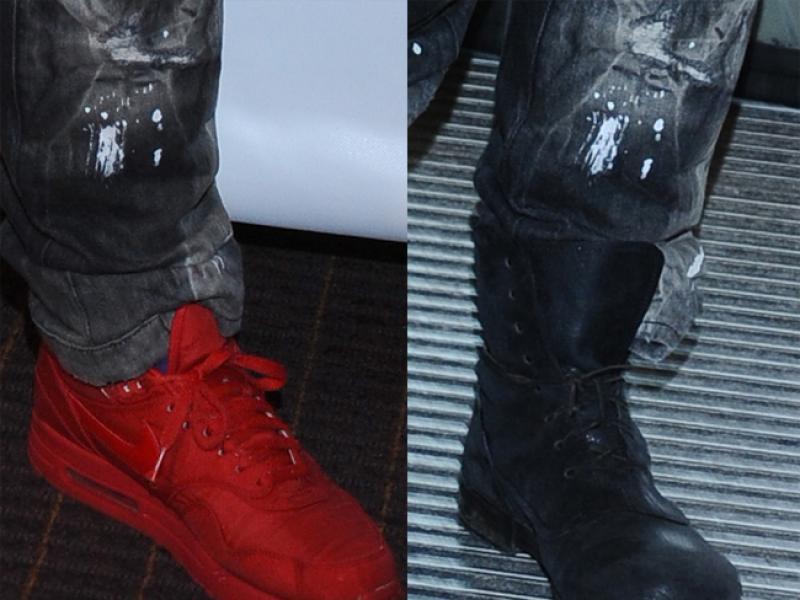 Kto przebiera buty na tej samej imprezie?