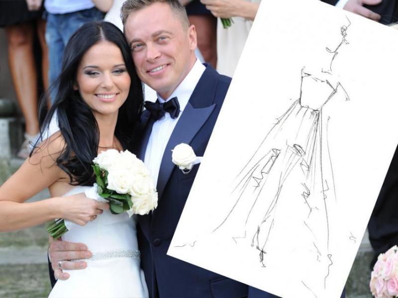 Kto zaprojektował suknię ślubną Pauliny Sykut