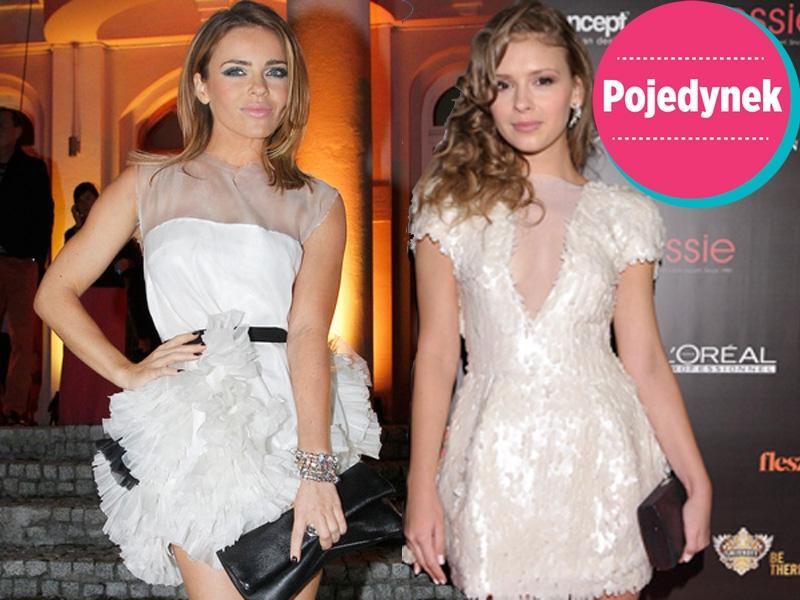 Która lepiej wygląda w białej sukience?