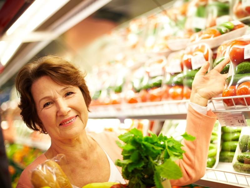 warzywa, sklep, senior, dieta, jedzenie, produkty, zakupy