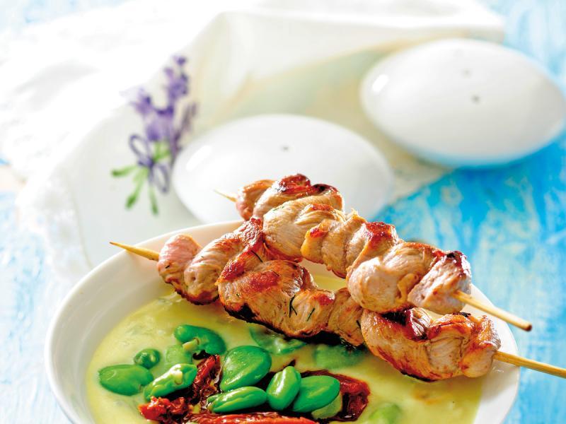 Kurczak duszony z bobem - przepis