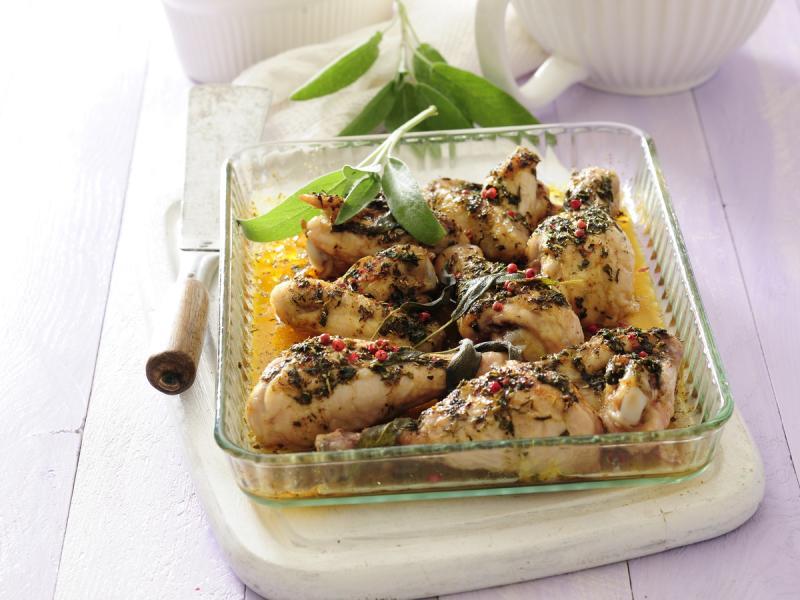 Kurczak w ziołach i czosnku