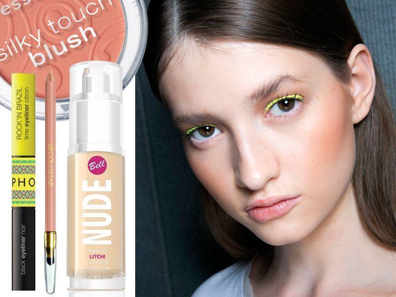 Makijaż z pokazu - neonowe kreski na lato 2014