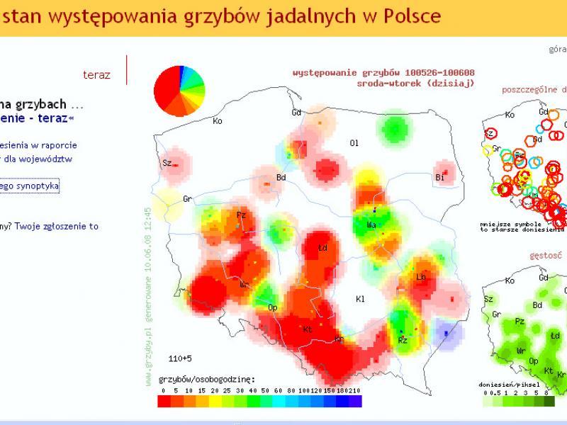 Mapy Wystepowania Grzybow Gdzie Szukac Kobiece Pasje Polki Pl