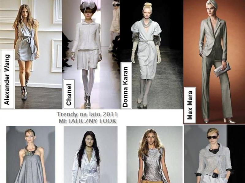 Metaliczny look - trend na lato 2011