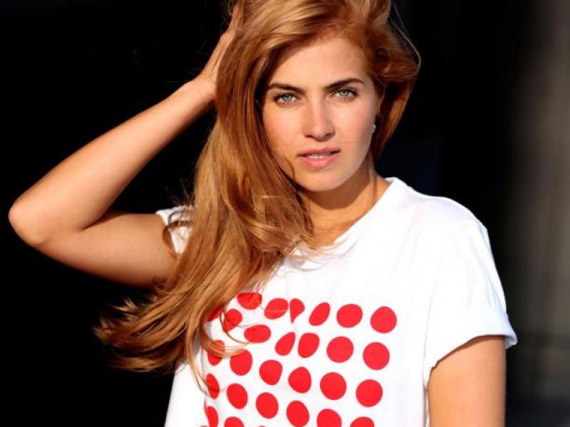Miss Polonia w charytatywnym T-shircie