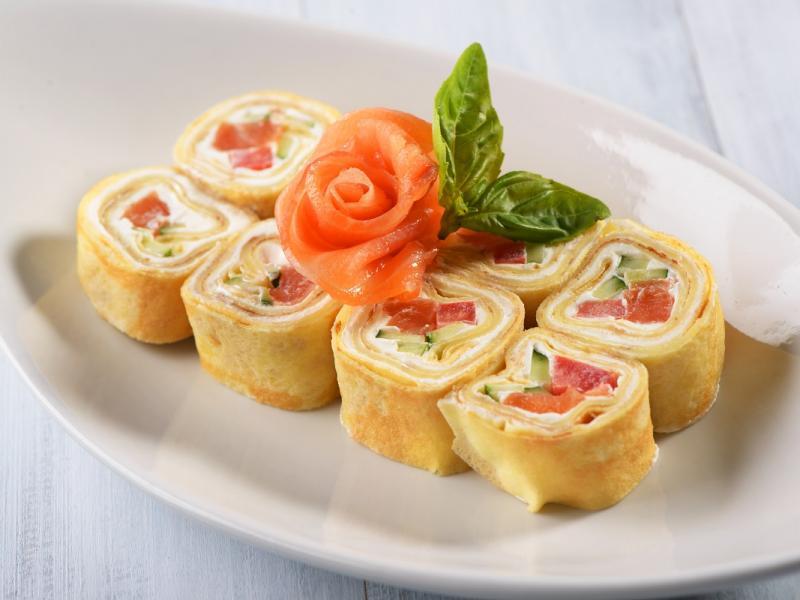 Naleśnikowe sushi na słodko