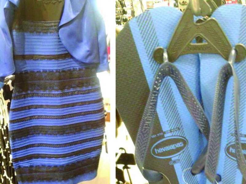Pamiętacie wielką kłótnię o kolor sukienki? Oto kolejne zdjęcie, które dzieli internautów. Jakiego koloru są te klapki?