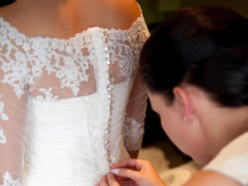 Piękna Suknia ślubna Z Muślinukoronka Długi Welon 2 Bolerka