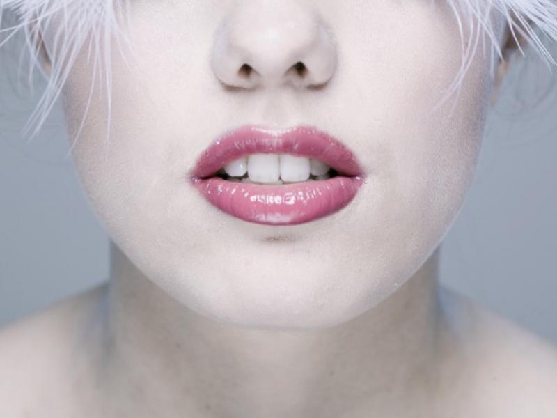 Piękne usta zimą