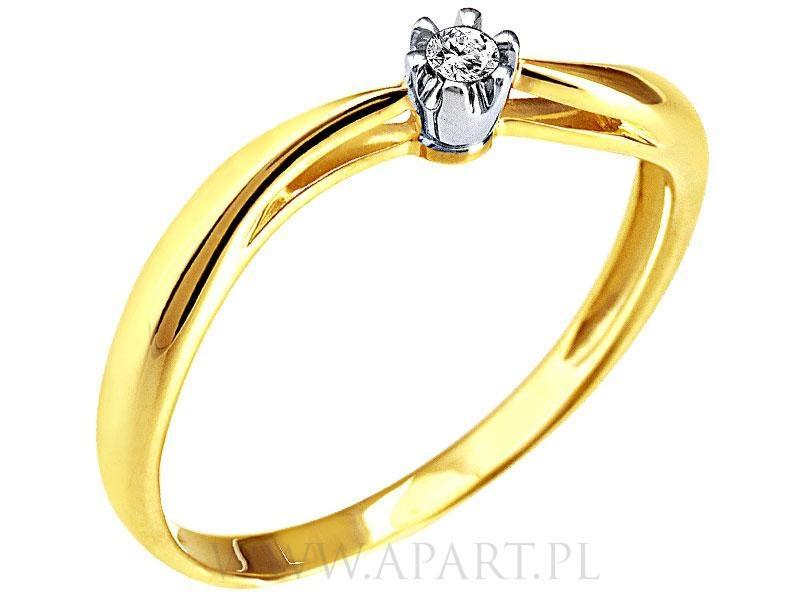 Pierścionki Zaręczynowe Apart Z żółtego Złota Zdjęcia Suknie