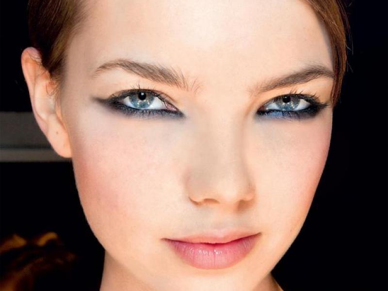 Pół smoky makijaż oczu