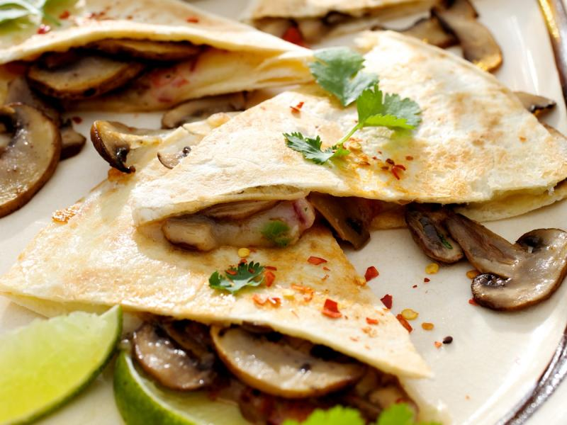 Quesadillas z pieczarkami