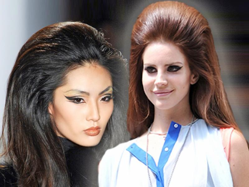 Retro fryzura Lany Del Rey
