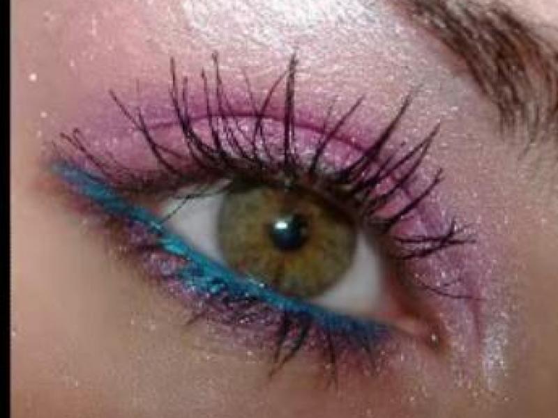 Różowy makijaż oczu (video)