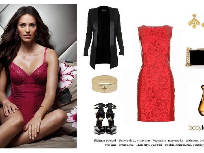 Czerwono-czarna stylizacja na Dzień Kobiet
