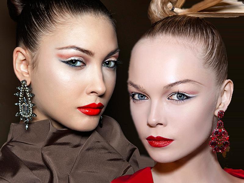 Sexy makijaż w orientalnym stylu