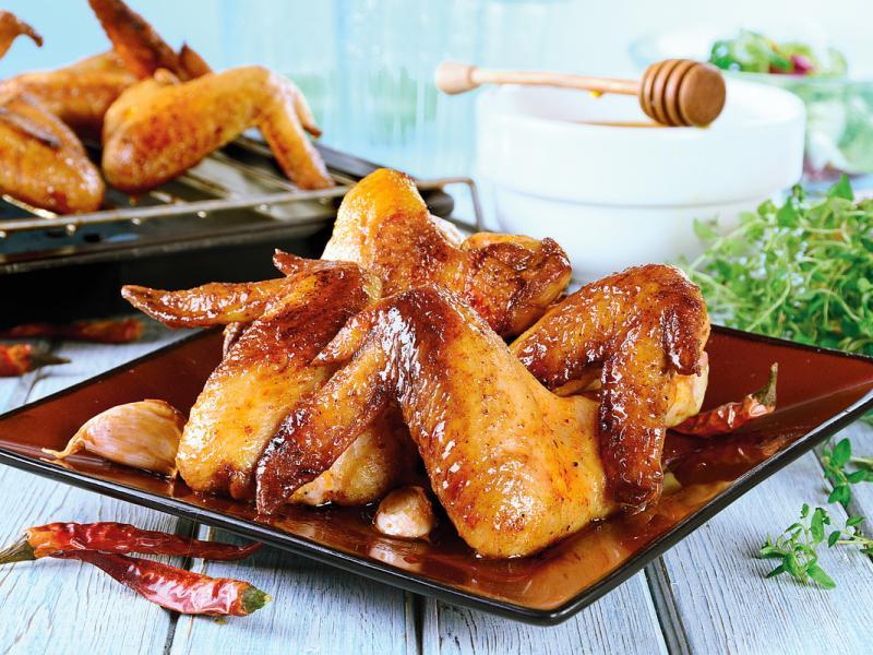 Skrzydełka kurczaka w miodzie