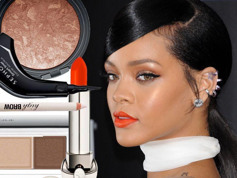 Śliczny makijaż w stylu Rihanny