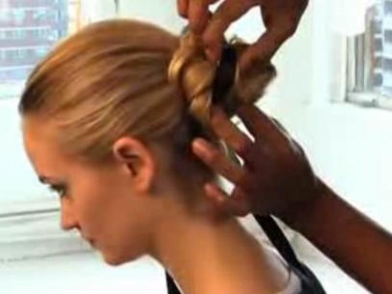 Słodka fryzura - kok (video)
