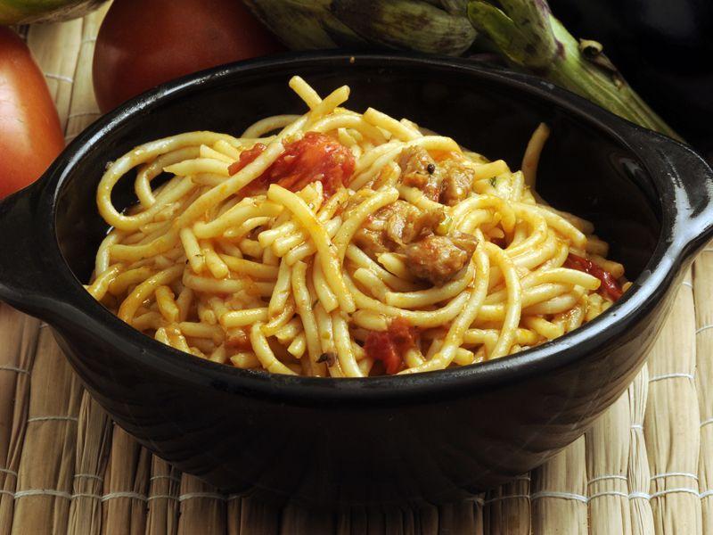 Spaghetti na ostro