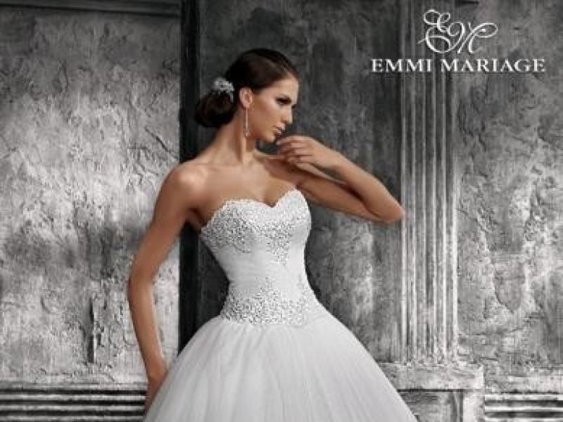 2350ede9c3 Sprzedam śliczną suknię ślubną EMMI MARIAGE