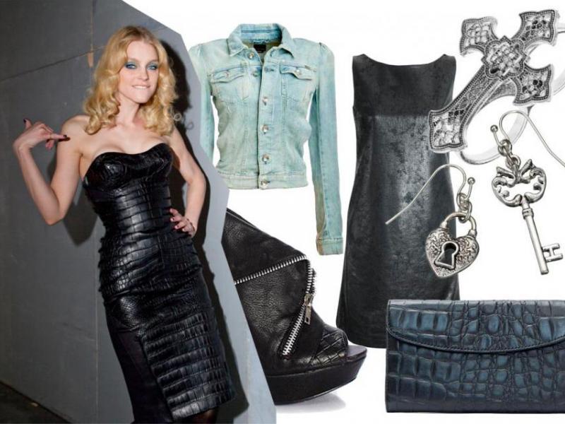 Stylizacje w stylu glam-rock na jesień 2011