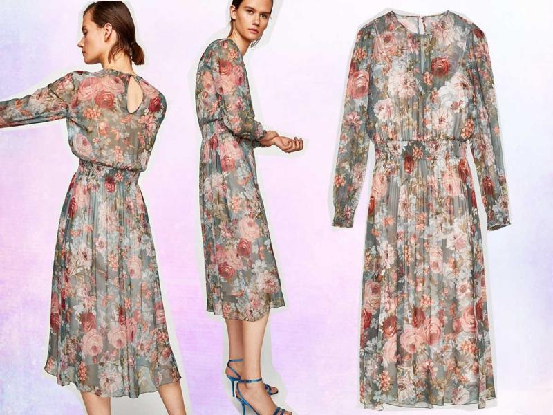 Sukienka w kwiaty z Zary hit z kolekcji jesień zima 2017