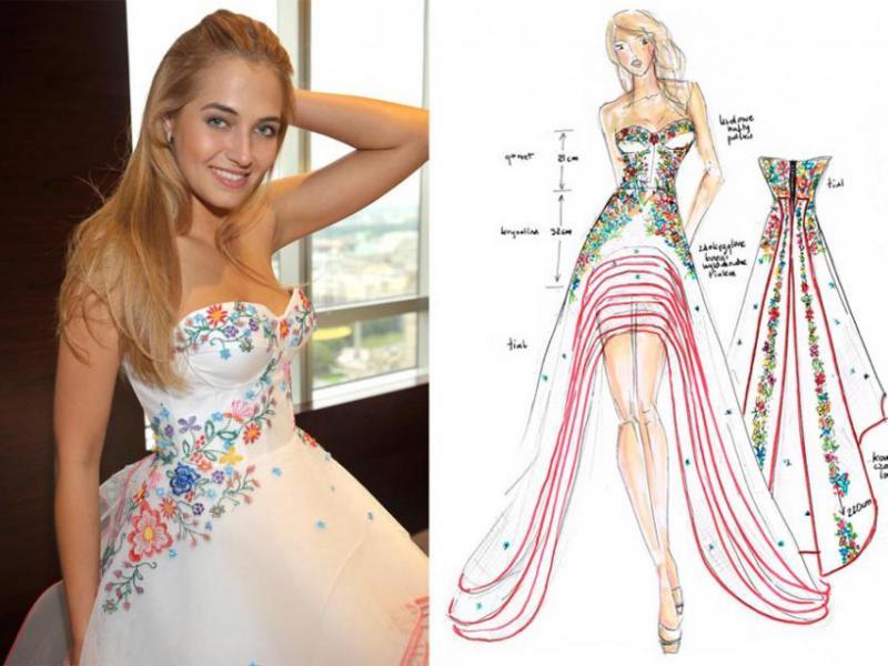 Suknia narodowa  Miss Polonii